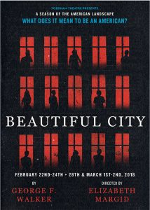 Poster for the play Beautiful City