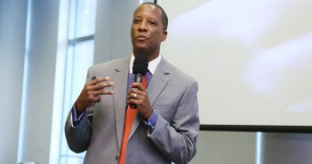 Charles E. Carter, Ph.D., deputy director and chief strategy officer of the Center on the Developing Child at Harvard University, gives a lecture at Fordham's Lincoln Center campus on Sept. 12, 2017. Photo credit: Michael Dames