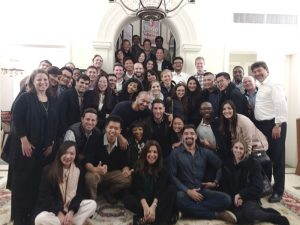 MBA students meet with Gabelli alumnus Darío Werthein of the Werthein Group in Argentina.