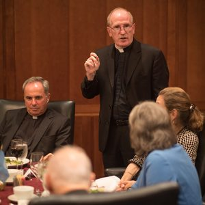 Father McShane at UN Dinner