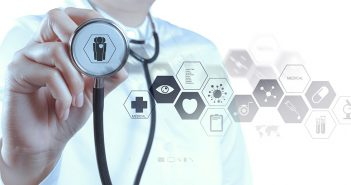 abstract image of healthcare provider with stethoscope