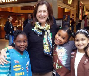 Mary Barneby and some of her Connecticut Girl Scouts