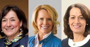 The three speakers of Fordham's inaugural Women's Philanthropy Summit