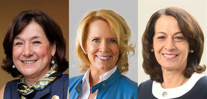The three speakers of Fordham's inaugural Women's Philanthropy Summit