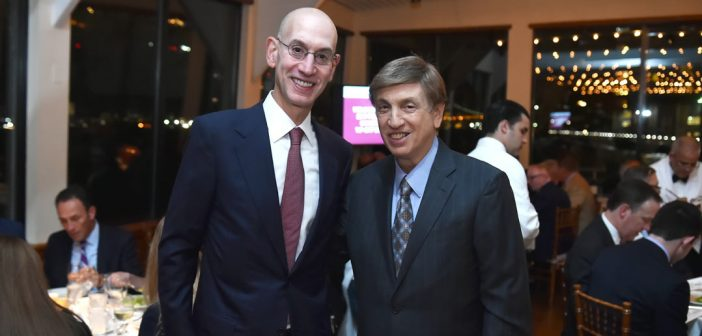 NBA Commissioner Silver and Marv Albert