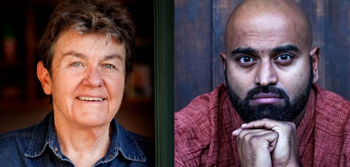 (L-R) U.S Poet Laureate and Pulitzer Prize winner Kay Ryan and Kundiman Prize Winner Rajiv Mohabir