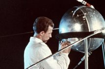 Sputnik from a newsreel