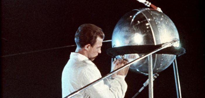 Sputnik from a newsreel