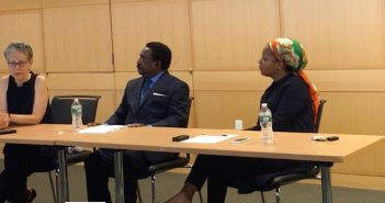 Jennifer Gordon, Victor L. Essien and Christina Greer discuss immigration at Fordham School of Law