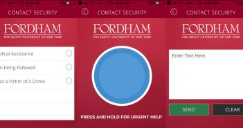 Fordham's new security app.