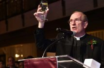 Father McShane Toasts at Holiday Reception
