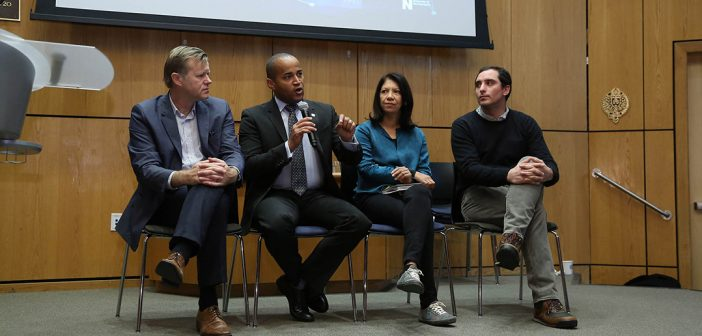 Michael Casey, Dante Disparte, Grace Torrellas Andrew Kruczkiewicz, discuss the ways that blockchain might help humanitarian organizations do more with existing funding.