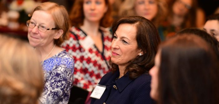 Alumnae, faculty, administrators, and other Fordham community members come together for Fordham's inaugural Women's Philanthropy Summit on Nov. 6.