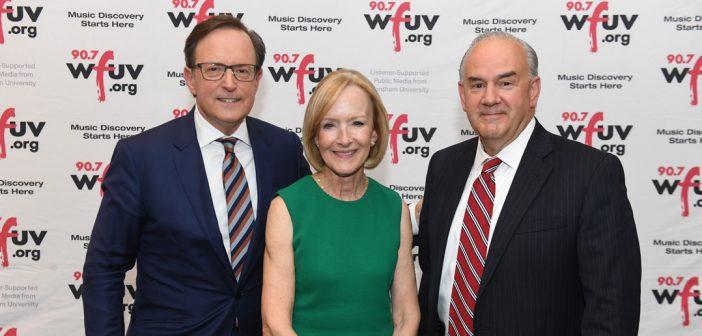 (L-R) Anthony Mason, Judy Woodruff, and Rick Wolff