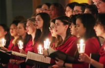 Fordham Women's Choir with candles