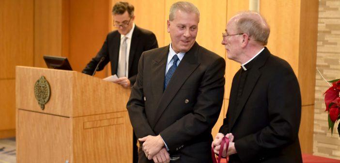 (L-R) Joseph Manganello and Joseph M. McShane, S.J., president of Fordham.