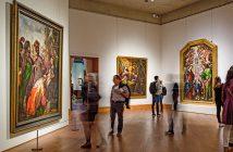 "Museumgoers at the Metropolitan Museum of Art view the exhibition ""Cristóbal de Villalpando: Mexican Painter of the Baroque"" in October 2017"