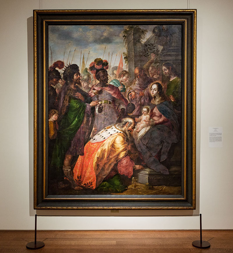 "Villalpando's ""Adoration of the Magi"" at the Met (Photo by Bud Glick)"