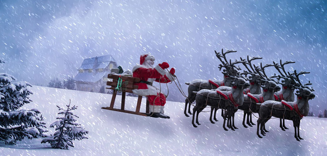 call them santas rein does says fordham student - Santa And Reindeer Pictures