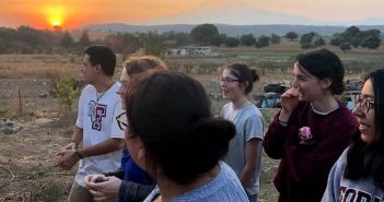 Global Outreach students in Mexico landscape