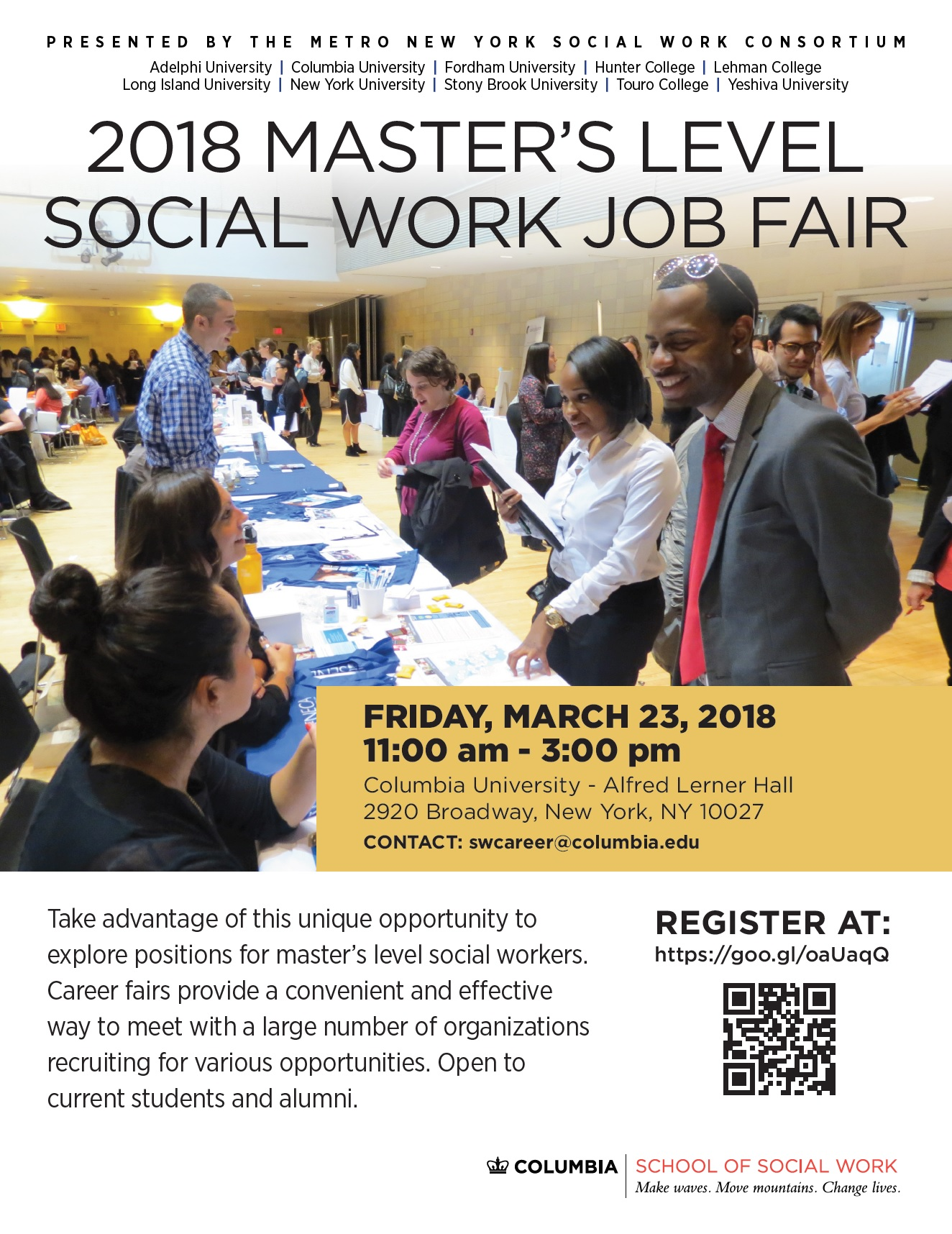 2018 Master S Level Social Work Job Fair