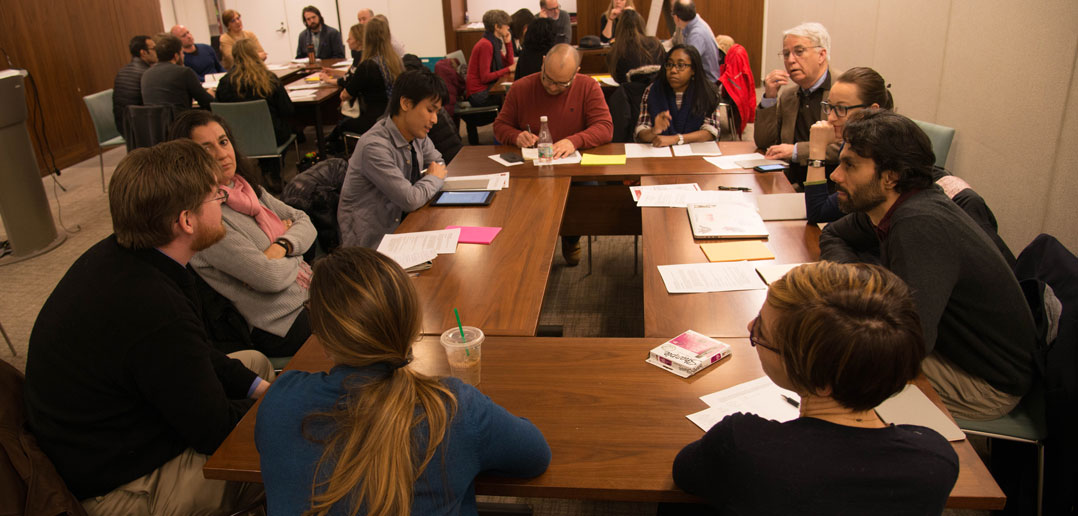 Image: Fordham faculty discuss strategies for student success at a workshop focused on accessible and inclusive learning.