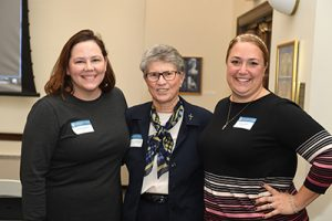 MacInnis celebrates Founder's Day with other Marymount alumnae