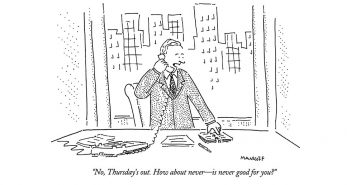 A New Yorker cartoon by Bob Mankoff