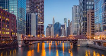 Downtown Chicago cityscape