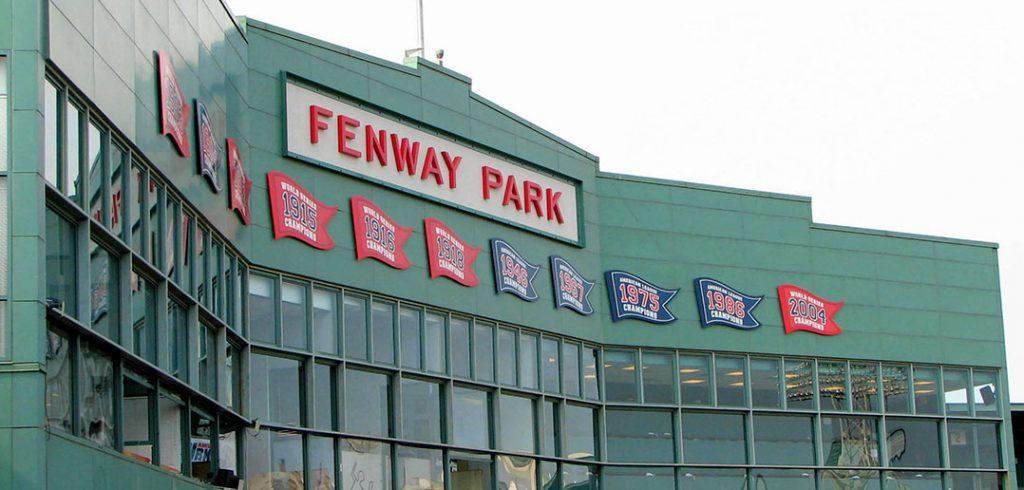 Press box at Fenway Park