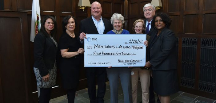 AT&T has provided $450,000 to the Mentoring Latinas program over the past nine years.