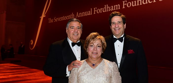 John and Barbara Costantino with Law Dean Matthew Diller