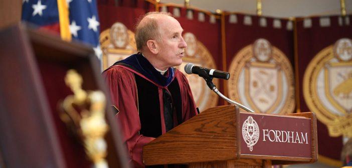 Joseph M.McShane, S.J., president of Fordham University.