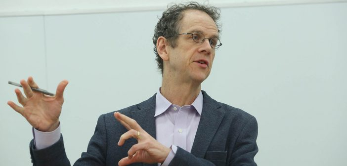 David Cole, National Legal Director of the ACLU, speaking at Fordham School of Law