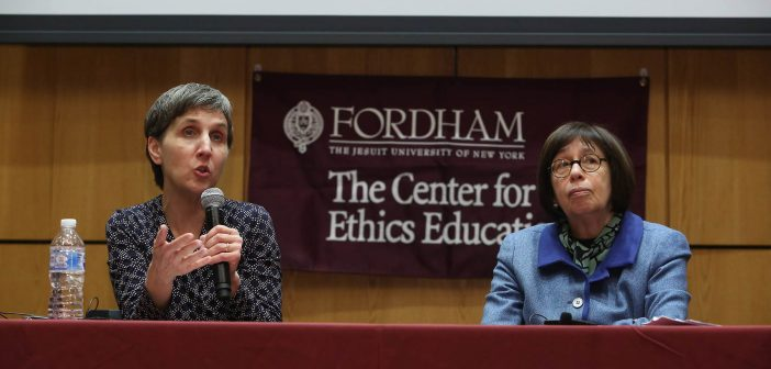 Linda Greenhouse, the Joseph Goldstein Lecturer in Law and Knight Distinguished Journalist-in-Residence at Yale Law School, and Nancy Berlinger, Ph.D., a research scholar at the Hastings Center, a bioethics research institute.