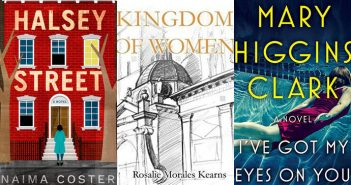 The covers of three new novels by Fordham alumni