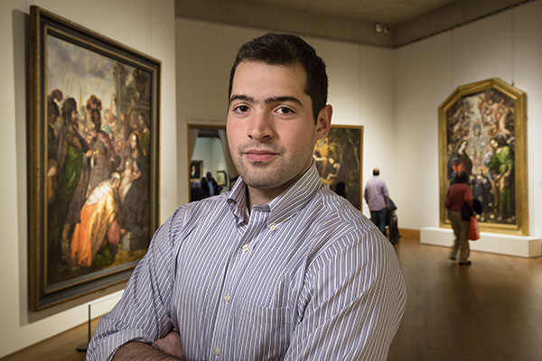 A Fordham Scholar and a Masterpiece at the Met: Cristóbal de Villalpando's Adoration of the Magi (left)—a 1683 painting that has been part of the Fordham art collection since the mid-19th century—was featured in a major exhibition of the Mexican artist's work at the Metropolitan Museum of Art in 2017. Fordham senior Peter Vergara wrote his final undergraduate seminar research paper about.