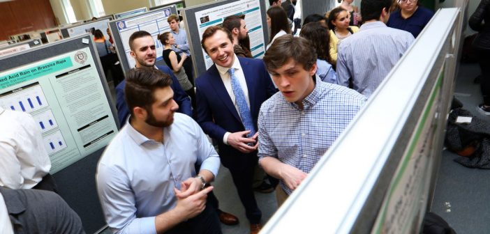 Fordham College at Rose Hill students present their research projects at 11th Annual Undergraduate Research Symposium.