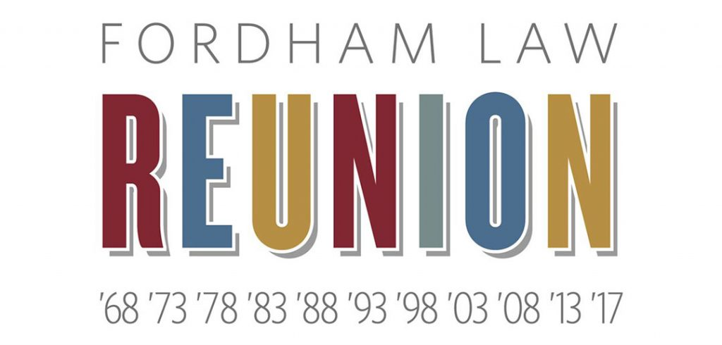 Fordham Law Reunion logo