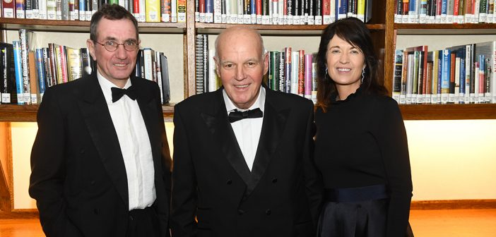 Founder's Honoree William Loschert is flanked by George Maher, Anne-Marie Harvey