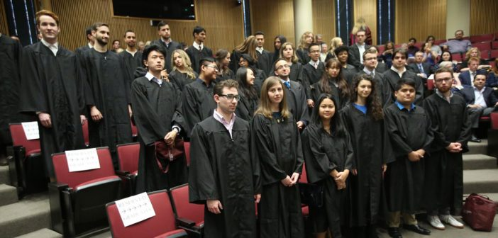 The Gabelli School of Business celebrates the inaugural undergraduate Lincoln Center class.