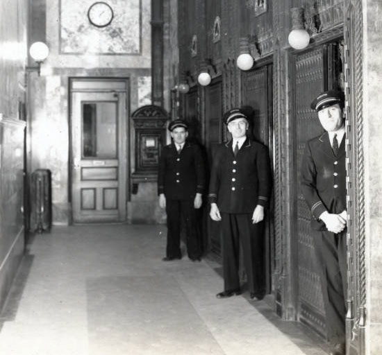 Elevator operators at 302 Broadway