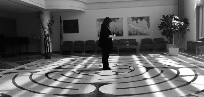 A labyrinth exercise helps caregivers at the Cleveland Clinic reflect on patients' experiences.