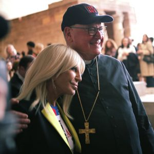 Donatella Versace and Cardinal Dolan