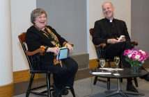Elizabeth Johnson and James Martin at the Lincoln Center campus