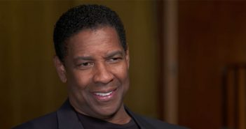 Denzel Washington in Pope Auditorium, where he was interviewed by CBS News' Michelle Miller on April 13, 2018, for a profile that was broadcast on CBS Sunday Morning on April 29