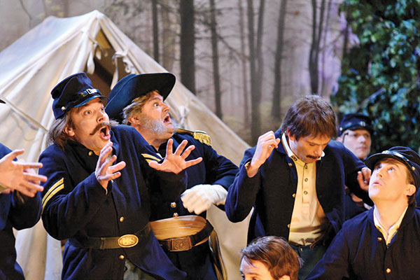 """A still image from the Saturday Night Live sketch """"Civil War Soldiers"""""""