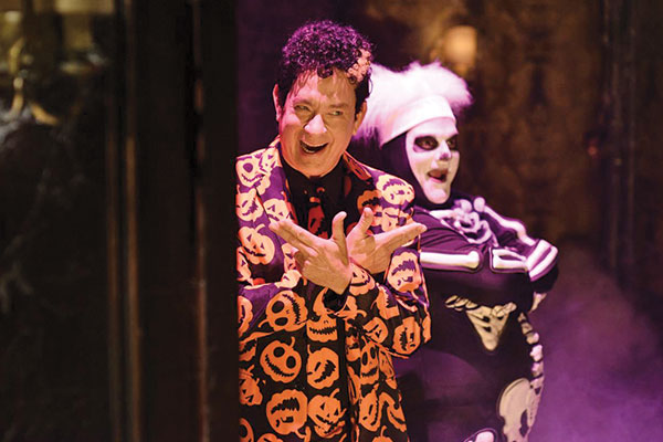 """A still image from the Saturday Night Live sketch """"Haunted Elevator"""""""
