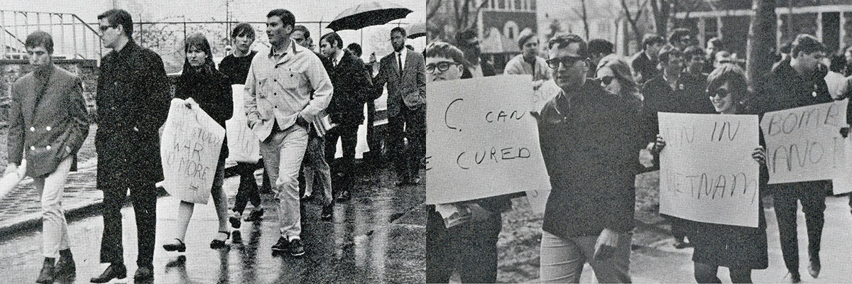 Vietnam came to dominate campus discussions, with students marching against and in support of the war.