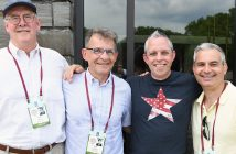 Rainbow Rams: Tom Reilly, FCRH '68, Jim Gifford, FCRH '68, Jerold Kulik, FCRH '93, Tom Penna, FCRH '93